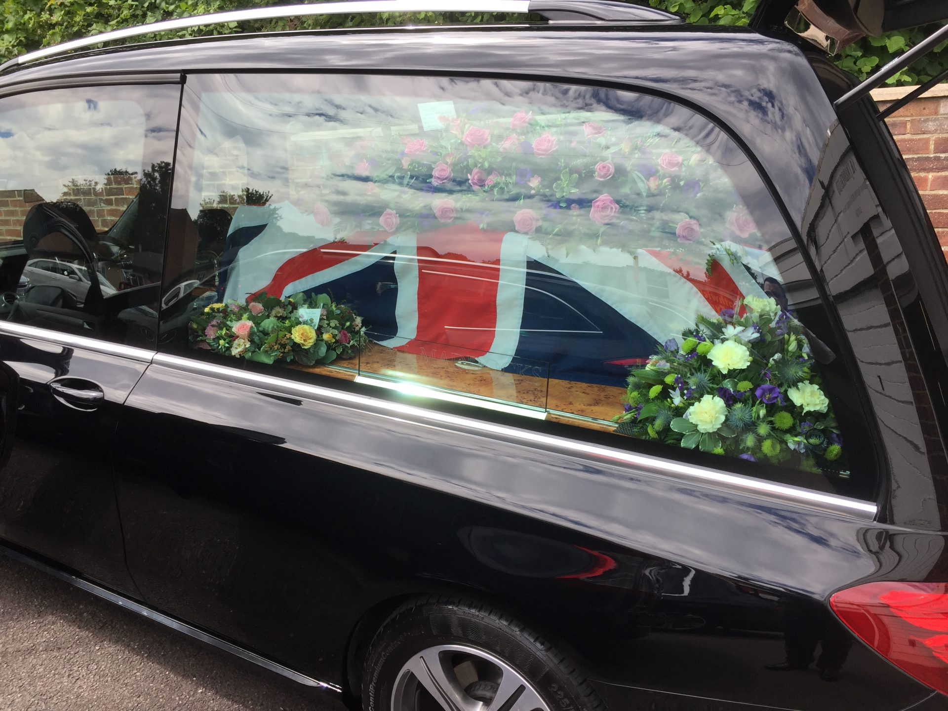 Funeral hearse car